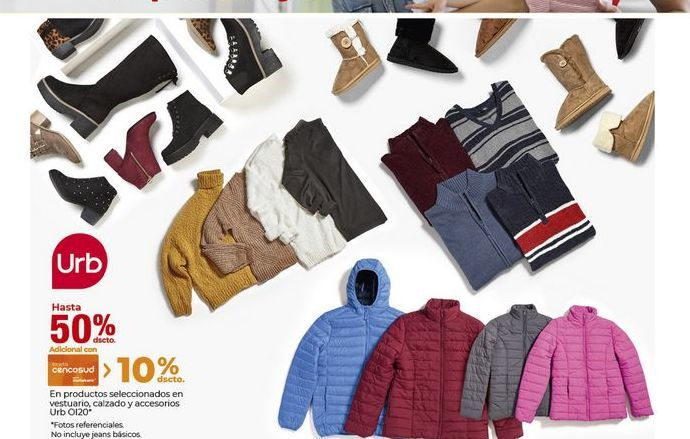 Oferta de Descuento en productos seleccionados de ropa, calzado y accesorios por