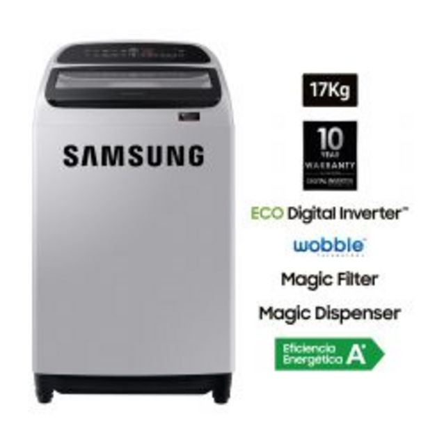 Oferta de Lavadora Samsung WA17T6260BY/PE 17kg por S/ 1349