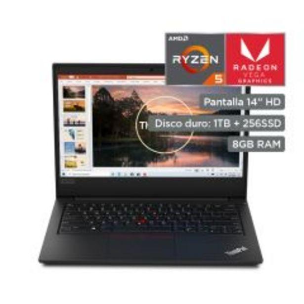 """Oferta de Laptop Lenovo ThinkPad E495 20NES17300 14"""" AMD Ry... por S/ 3999"""