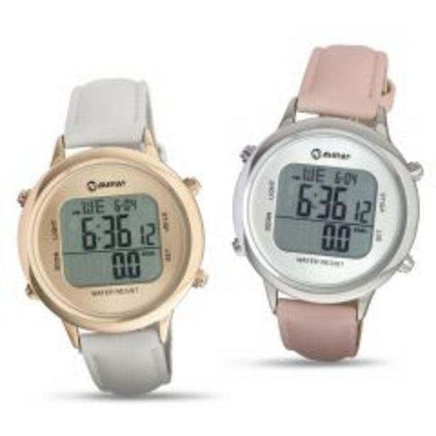 Oferta de Reloj Pulsera Sport P/Dama Miray RPMD-77D + Reloj Puls... por S/ 169