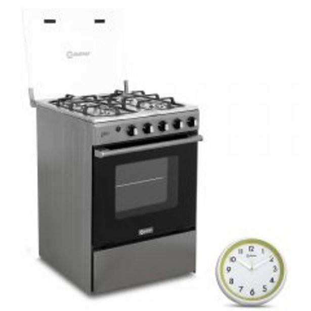Oferta de Cocina a gas Miray Olmo 4 Hornillas + Reloj Pared Mira... por S/ 599