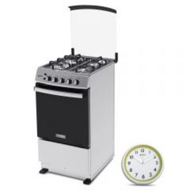 Oferta de Cocina a Gas Miray Cerezo 4 Hornillas + Reloj Pared Mi... por S/ 599