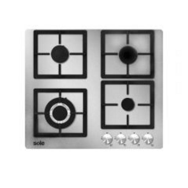 Oferta de Cocina a gas empotrable Sole SOLCO043 Silver 4 hornillas por S/ 1099