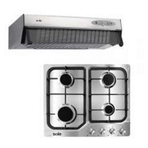 Oferta de Cocina Empotrable GN/GLP Sole SOLCO035 4 hornillas + C... por S/ 799