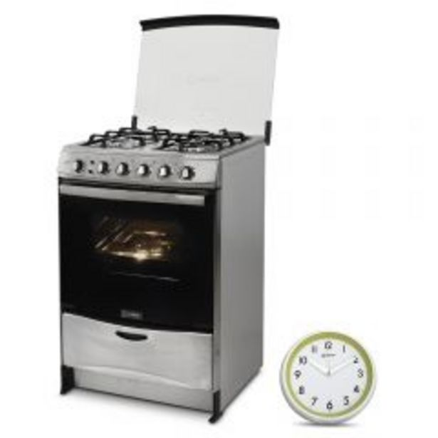 Oferta de Cocina a Gas Miray Salvia 4 Hornillas + Reloj Pared Mi... por S/ 849