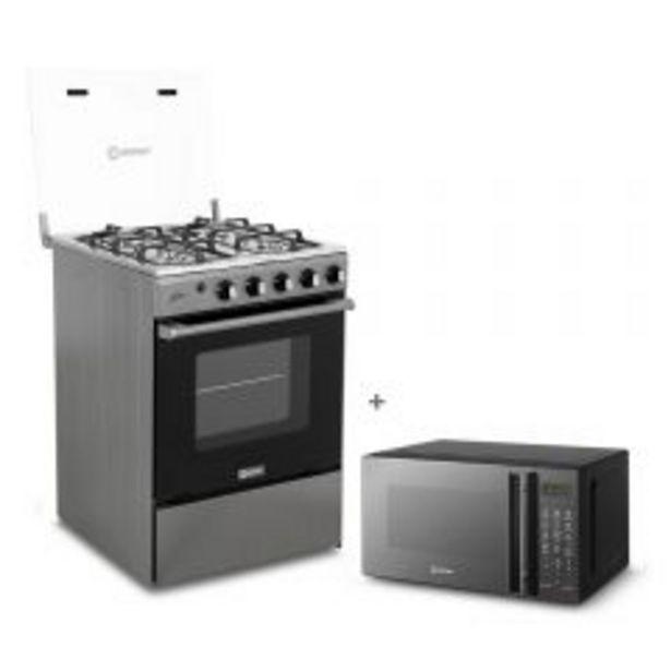 Oferta de Cocina a gas Miray Olmo 4 hornillas + Horno microondas Miray HMM-21N por S/ 769