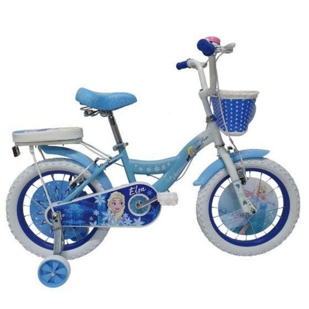 """Oferta de Bicicleta Monark Frozen Elsa Aro 12"""" Celeste por S/ 499"""