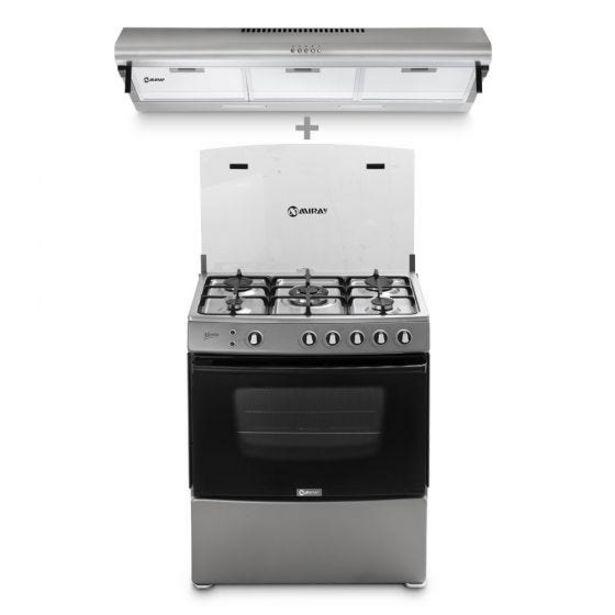 Oferta de Cocina a GLP Miray Menta 5 hornillas + Campana Extractora Miray CEM-92 por S/ 1499