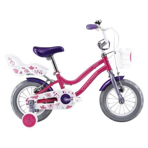 """Oferta de Bicicleta Infantil Oxford Beauty Aro 12"""" 1V Fucsia/Lila por S/ 469"""