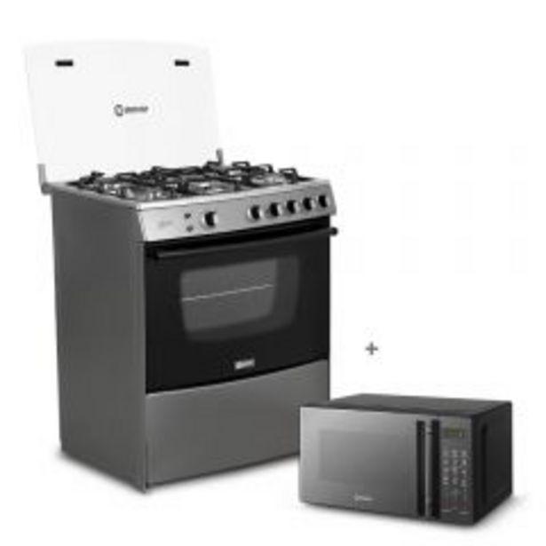 Oferta de Cocina a gas Miray Menta 5 hornillas + Horno microondas Miray HMM-21N por S/ 1049