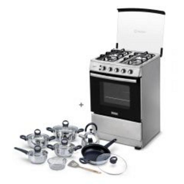 Oferta de Cocina a Gas Miray Gardenia 4 Hornillas + Juego de Ollas Miray JOM-1302 por S/ 939