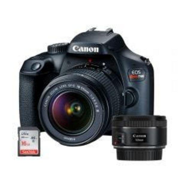 Oferta de Cámara Digital Canon REBEL T100 1855DC 18MP + Lente p... por S/ 1799