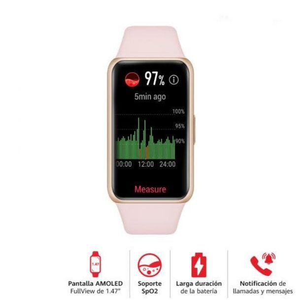 Oferta de Reloj Huawei Smart Band 6 Fara Pink por S/ 199