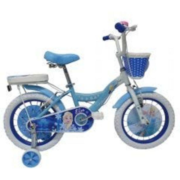 """Oferta de Bicicleta Monark Frozen Elsa Aro 12"""" Celeste por S/ 429"""