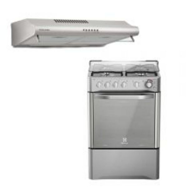 Oferta de Cocina a Gas Electrolux EKGW24N2CSTS 4 Hornillas + Cam... por S/ 1199