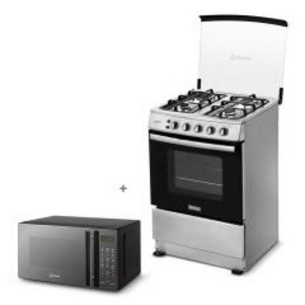 Oferta de Cocina a Gas Miray Gardenia 4 Hornillas + Horno microondas Miray HMM-21N por S/ 939