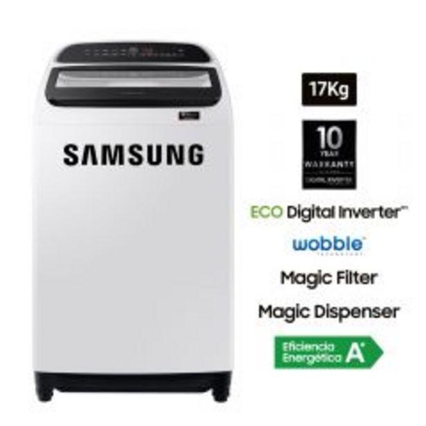 Oferta de Lavadora Samsung WA17T6260BW/PE 17kg por S/ 1249