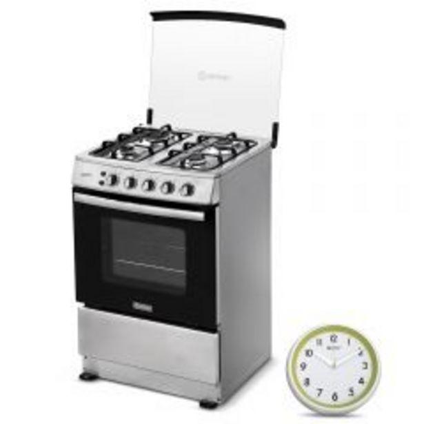 Oferta de Cocina a Gas Miray Gardenia 4 Hornillas + Reloj Pared ... por S/ 699