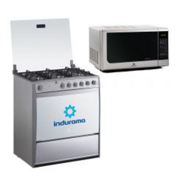 Oferta de Cocina a Gas Indurama Parma 6 Hornillas + Horno Microo... por S/ 1249