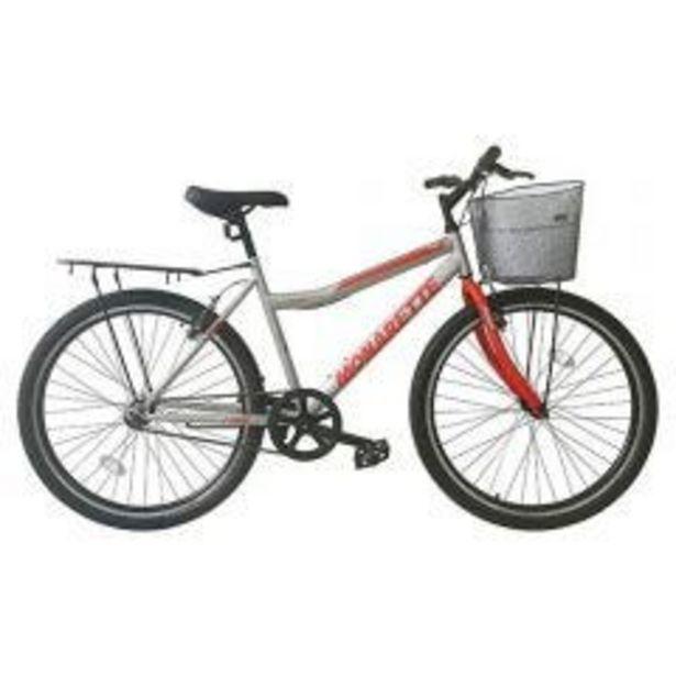 """Oferta de Bicicleta Monarette Master City Aro 26"""" Gris Rojo por S/ 499"""