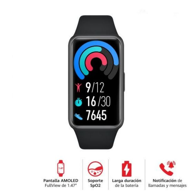 Oferta de Reloj Huawei Smart Band 6 Fara Black por S/ 199