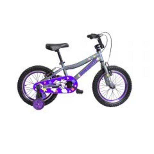 "Oferta de Bicicleta Monarette Spicy Aro 16"" Gris / Morado por S/ 399"