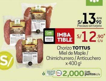 Oferta de Chorizo Tottus por S/ 13,9
