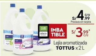 Oferta de Lejía Tottus por S/ 4,99