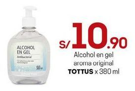 Oferta de Alcohol en gel Tottus por S/ 10,9