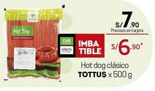 Oferta de Hot dog Tottus por S/ 7,9
