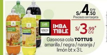 Oferta de Gaseosa Tottus por S/ 4,5
