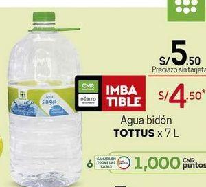 Oferta de Agua Tottus por S/ 5,5