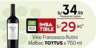 Oferta de Vino Tottus por S/ 34,9