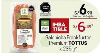 Oferta de Salchichas Tottus por S/ 6,9