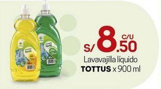 Oferta de Lavavajillas Tottus por S/ 8,5