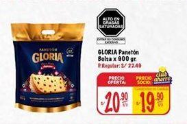 Oferta de Panetón Gloria por S/ 20,9