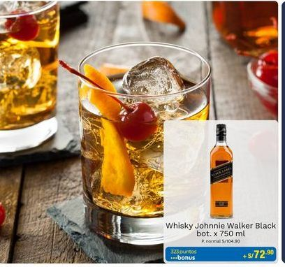 Oferta de Whisky Johnnie Walker por S/ 104,9