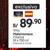 Oferta de Vino Matarromera por S/ 89,9