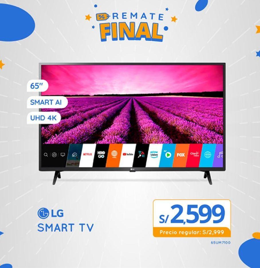 Oferta de Smart tv Lg por S/ 2599