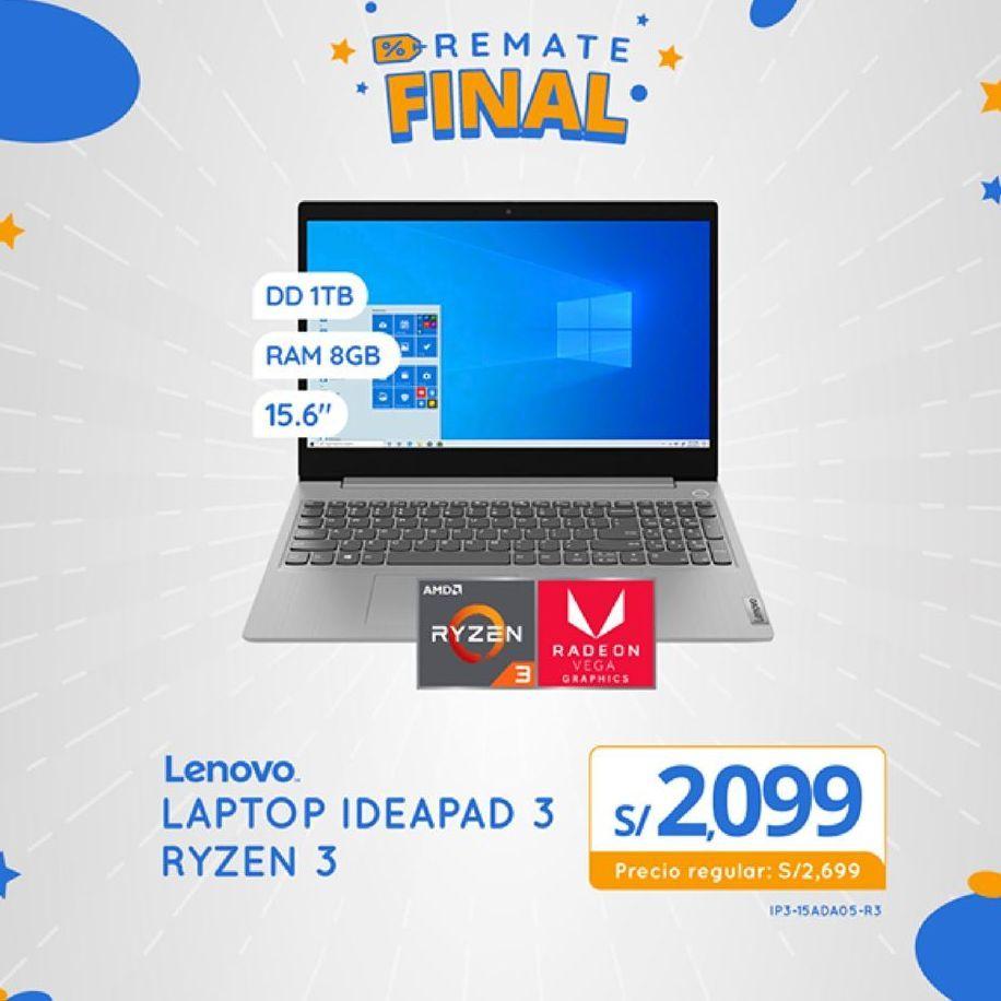 Oferta de Notebook Lenovo por S/ 2099