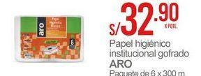 Oferta de Papel higiénico Aro por S/ 32,9