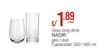 Oferta de Vaso alto Nadir por S/ 1,89