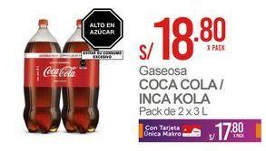 Oferta de Gaseosa Coca-Cola por S/ 18,8
