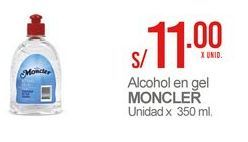 Oferta de Alcohol en gel MONCLER por S/ 11