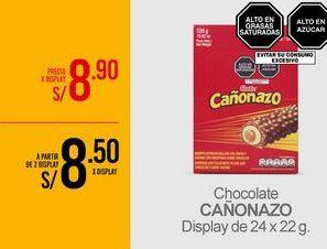 Oferta de Chocolate CAÑONAZO por S/ 8,9