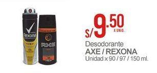 Oferta de Desodorante Axe / REXONA por S/ 9,5