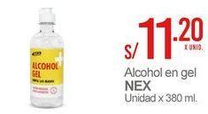 Oferta de Alcohol en gel Nex por S/ 11,2
