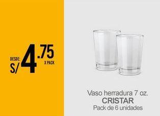 Oferta de Vasos Cristar por S/ 4,75