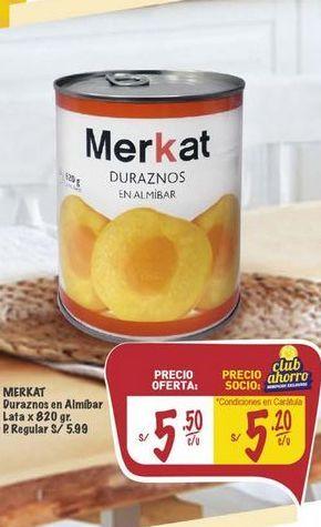 Oferta de Duraznos Merkat por S/ 5,5