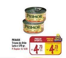 Oferta de Trozos de atún Primor por S/ 4,7